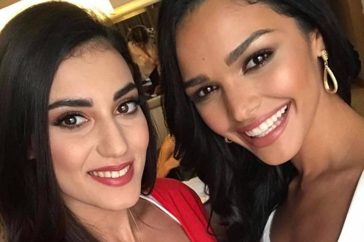 Miss Malta y Miss Puerto Rico. Foto vía Instagram