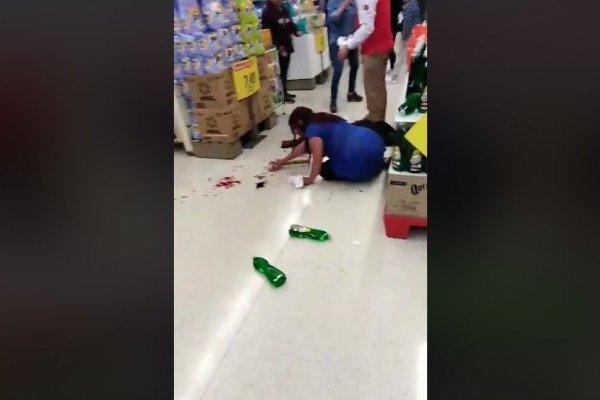 agresión supermercado