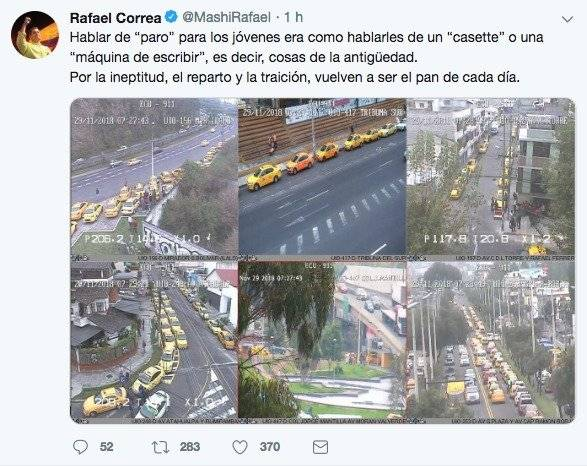 Paro de taxistas en Quito