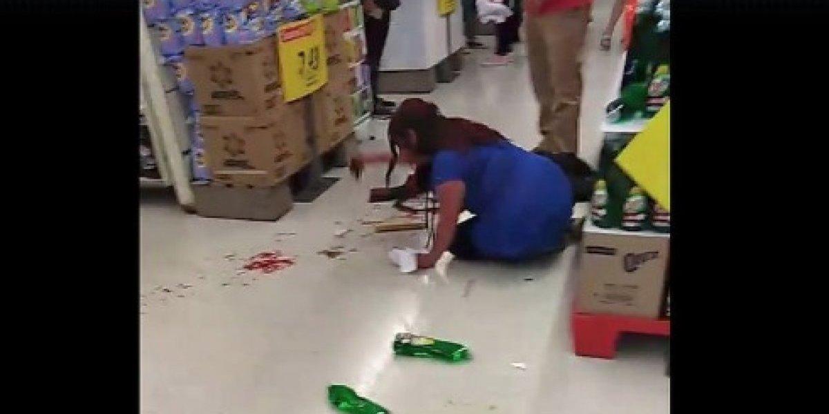 Indignación en redes sociales: detienen a guardia acusado de golpear a clienta en supermercado de Temuco