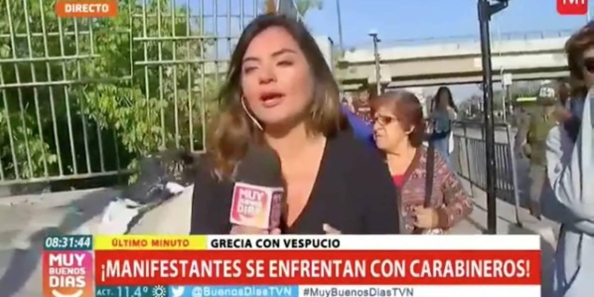 """""""¡Mentira, eso es mentira!"""": Interrumpen con gritos y golpes despacho en vivo del matinal de TVN"""