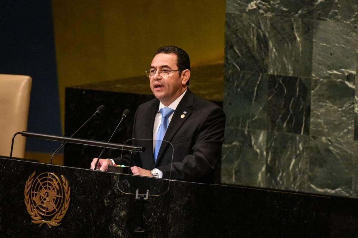 Jimmy Morales Cabrera, presidente de la República de Guatemala y Sandra Erica Jovel Polanco, ministra de Relaciones Exteriores Foto: Getty Images