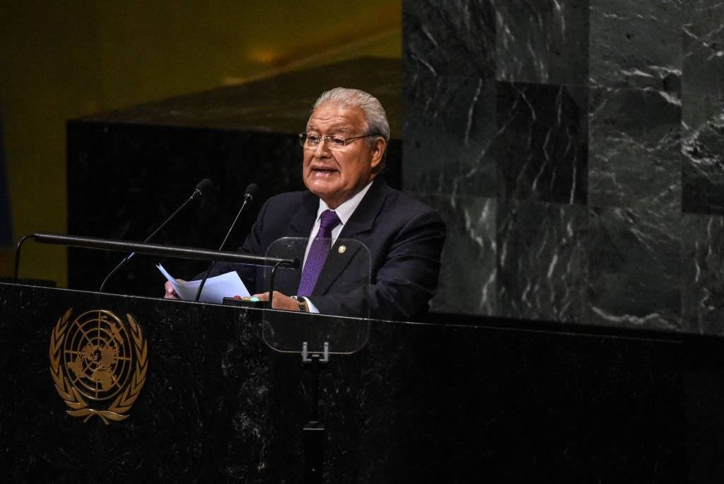 Salvador Sánchez Cerén, presidente de la República de El Salvador y Carlos Alfredo Castañeda Magaña, ministro de Relaciones Exteriores Foto: Getty Images