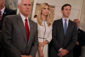 Michael R. Pence, vicepresidente de los Estados Unidos de América; Ivanka Trump, asesora de la Casa Blanca y Kirstjen Nielsen, secretaria del Departamento de Seguridad Interna de EU