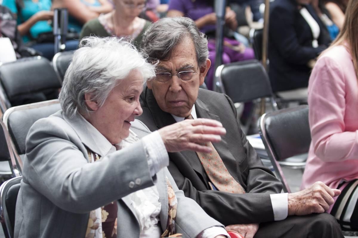 Lucía Topolansky, vicepresidenta de la República de Uruguay y Ariel Bergamino, subsecretario de Relaciones Exteriores Foto: Cuartoscuro