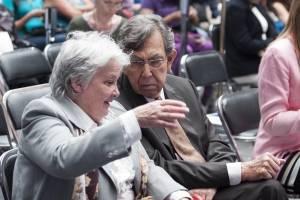 Lucía Topolansky, vicepresidenta de la República de Uruguay y Ariel Bergamino, subsecretario de Relaciones Exteriores