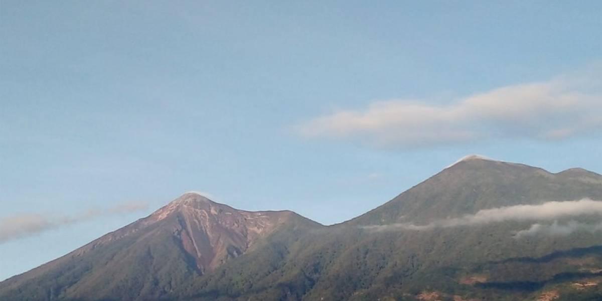 Lahares fuertes descienden del volcán de Fuego