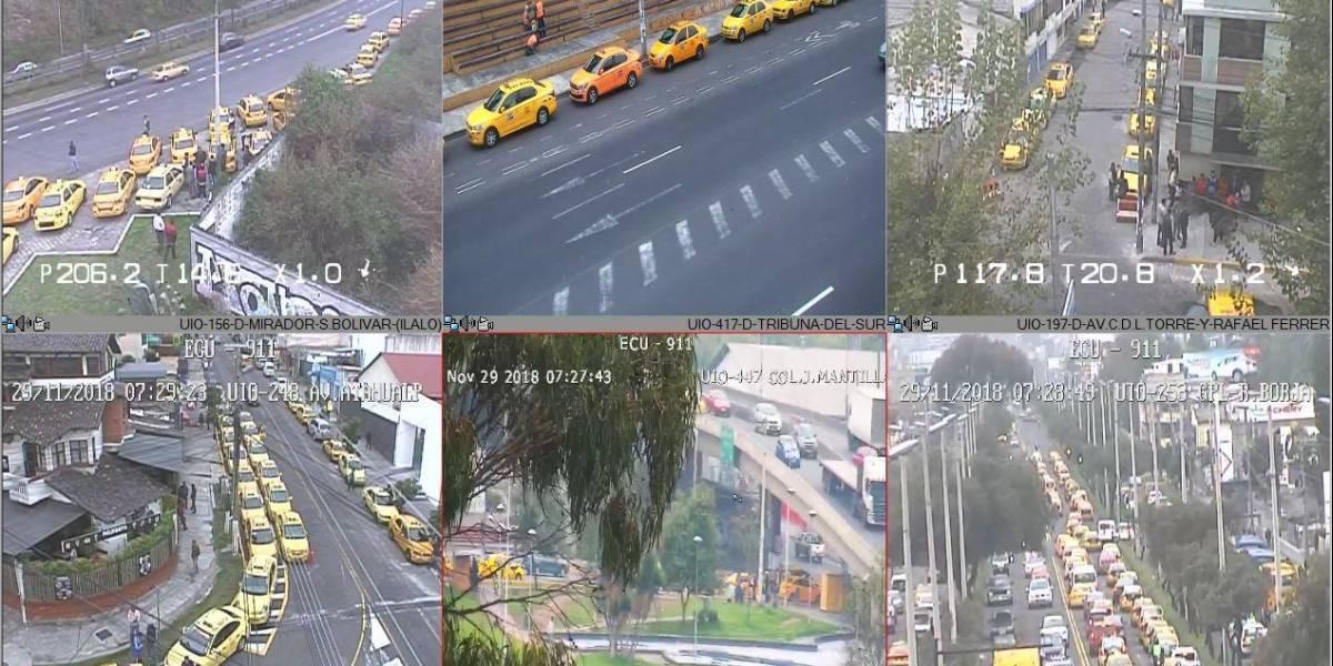 Paro de taxistas: Reportan aglomeración en varias calles de Quito
