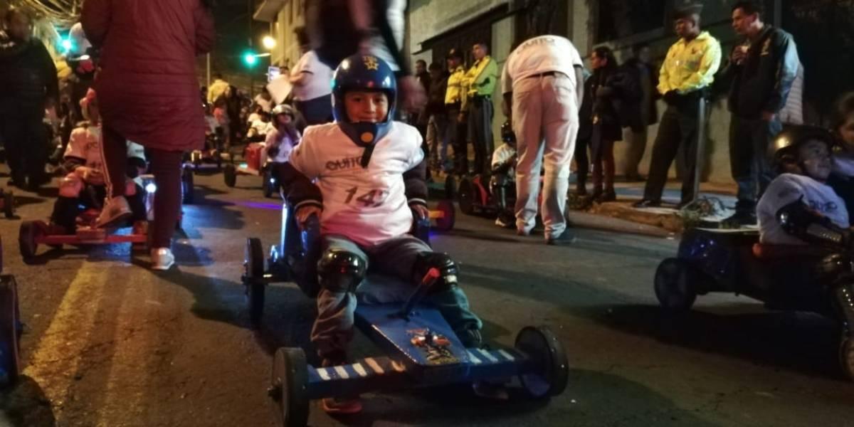 Fiestas de Quito: Segunda eliminatoria de la carrera de coches de madera