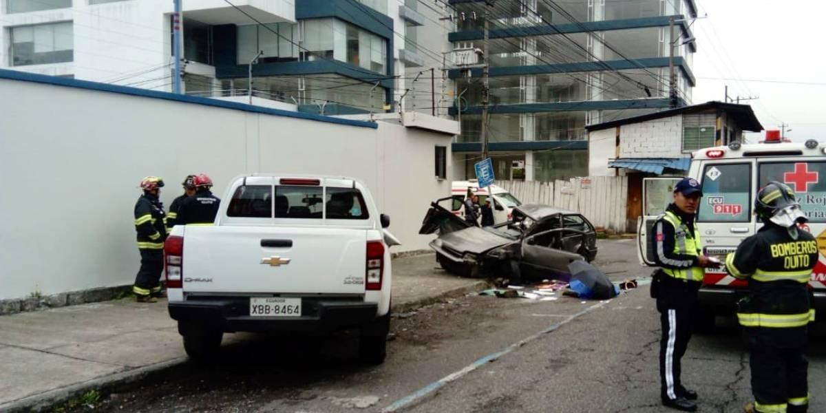 Quito: Un fallecido en accidente de tránsito en el sector de El Ejido