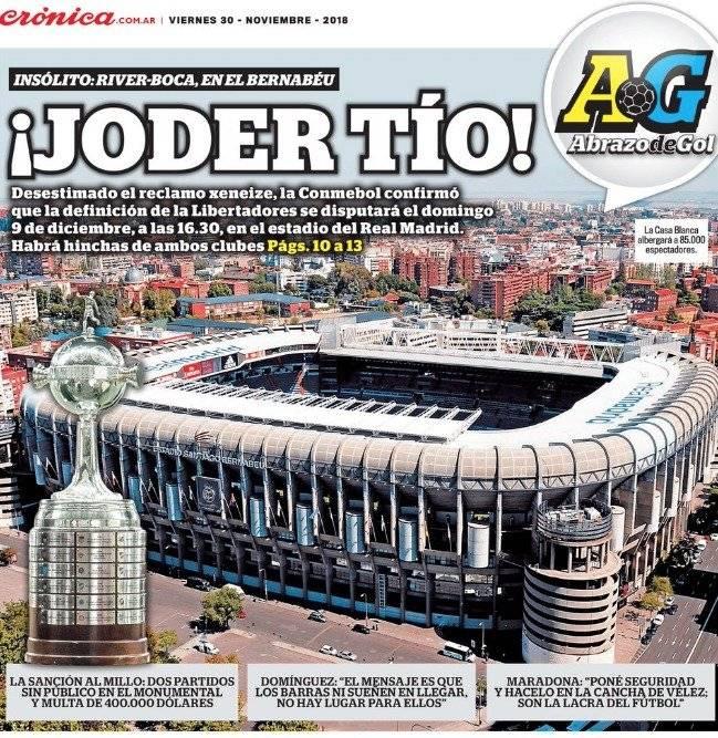 Abrazo de gol-Crónica (Argentina)