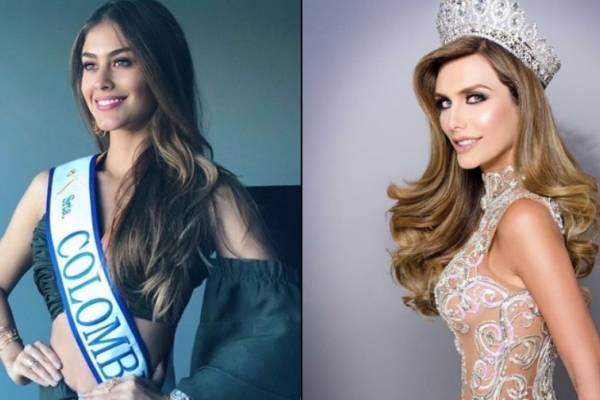 Valeria Morales y Ángela Ponce, Señorita Colombia y Miss España