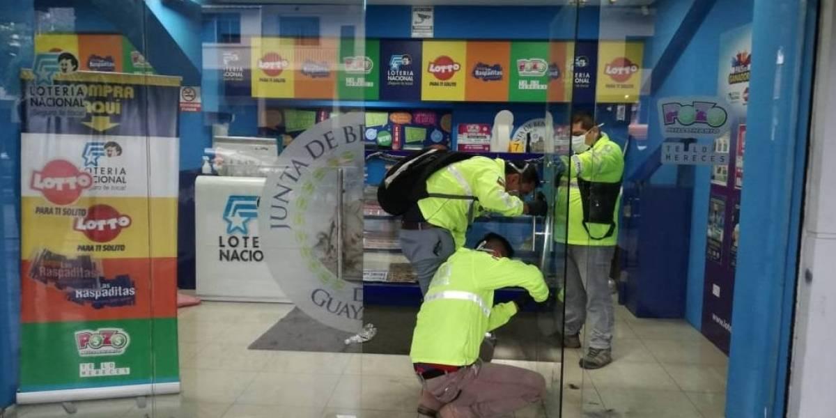 Guayaquil: Policía impidió robo en Lotería dejando un herido y seis detenidos