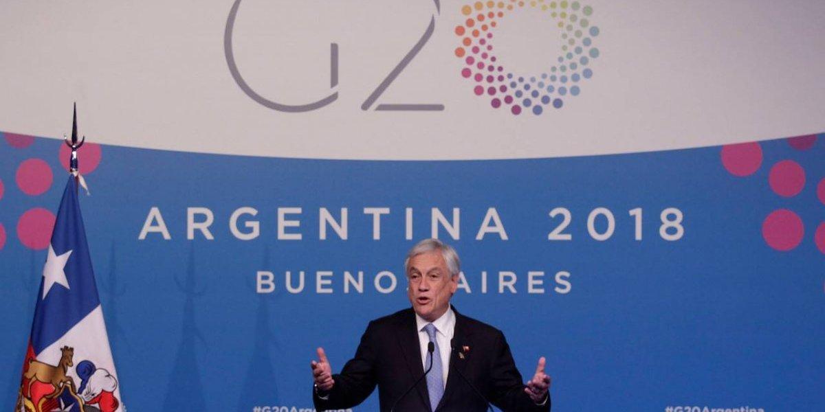 Cumbre G-20: pese a interés de la UDI, Piñera se reunió sólo cinco minutos con Macron