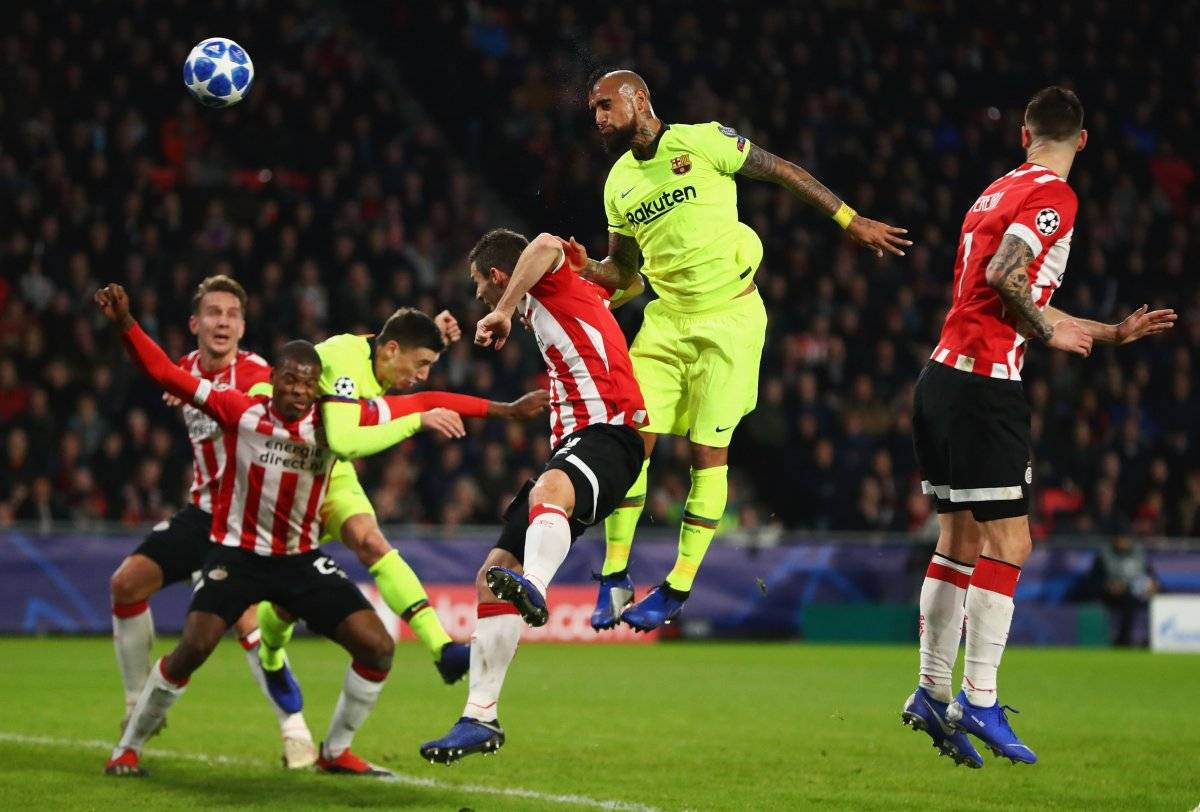 Vidal is already getting up in Barcelona / image Getty Images