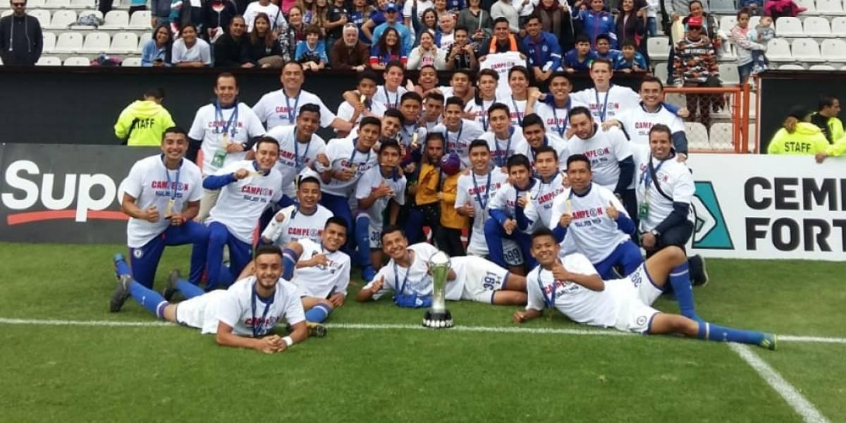 Cruz Azul se proclama campeón de la Sub 15