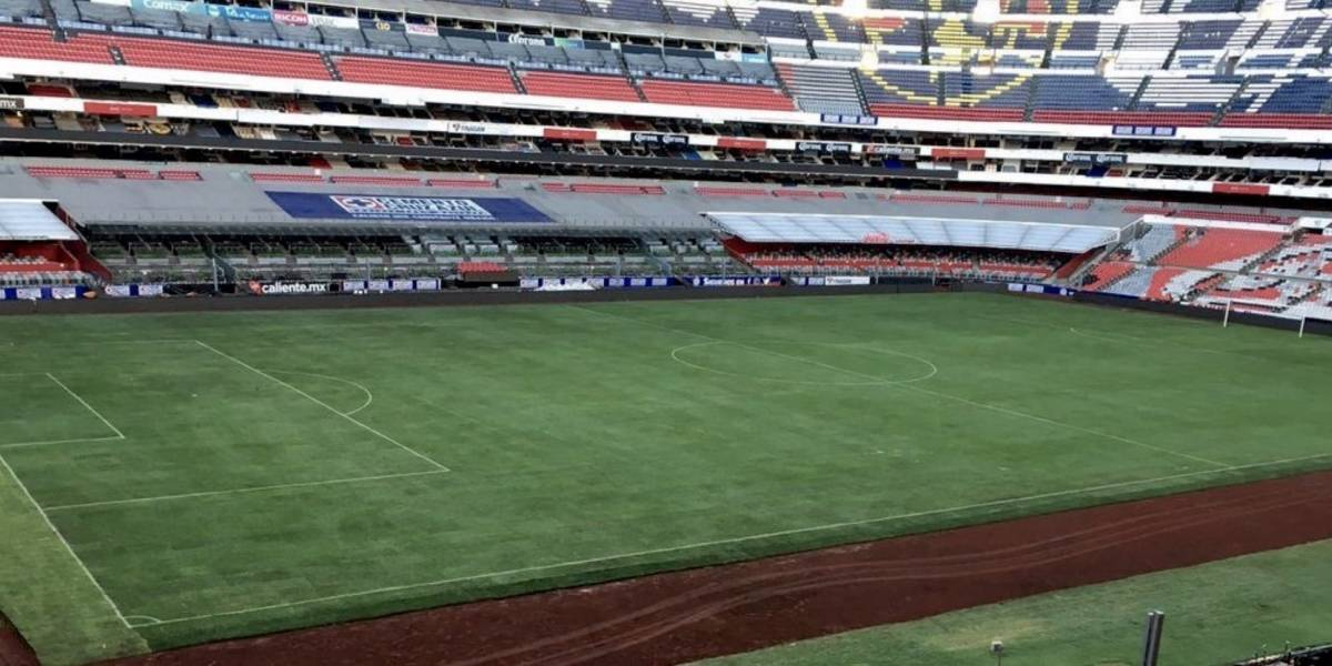 Así luce la cancha del Estadio Azteca para el Cruz Azul vs Querétaro