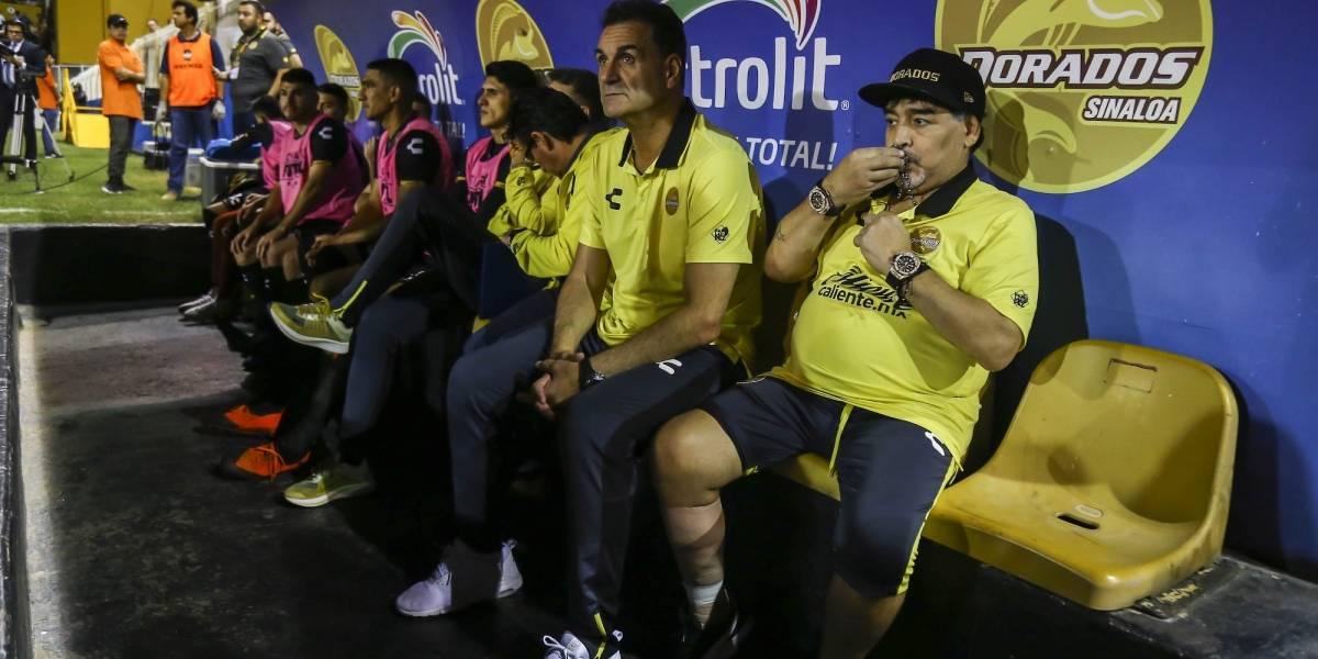 Maradona no estará en la banca de Dorados para la Final ante San Luis