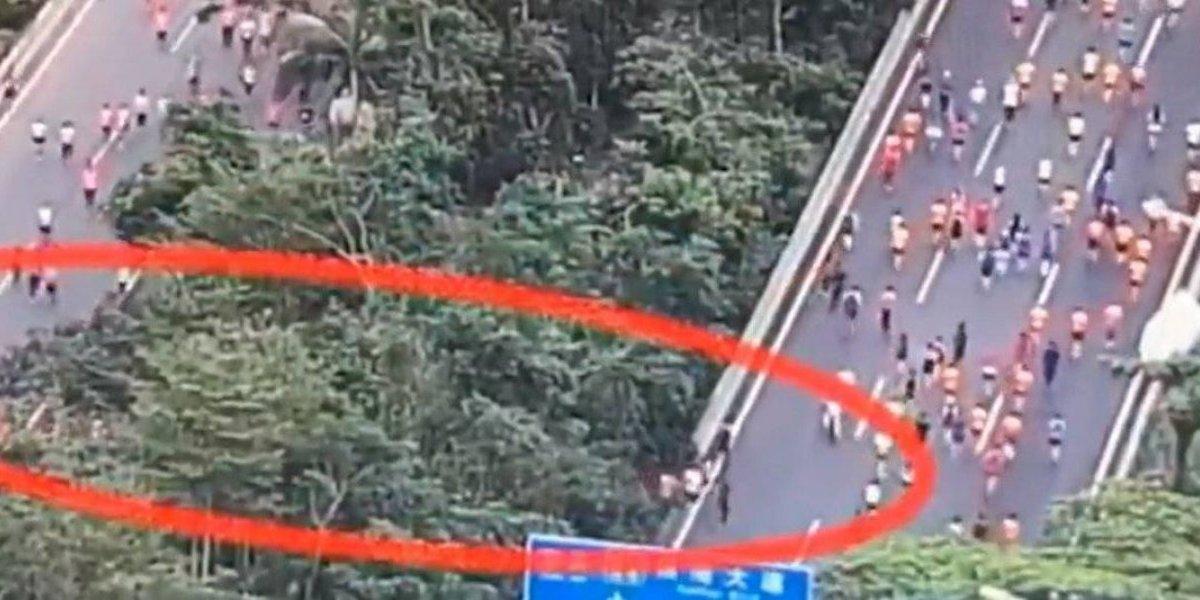 Más de 200 corredores hicieron trampa en el medio maratón de China