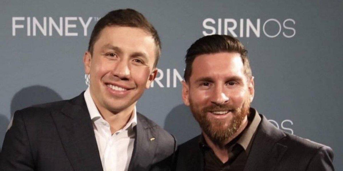 VIDEO: Golovkin aprovecha reunión con Messi para entregarle un regalo