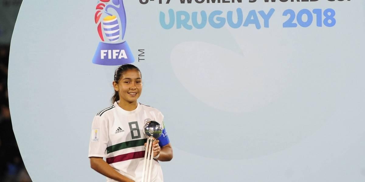 Mexicana Nicole Pérez gana Balón de Plata en Mundial Sub-17