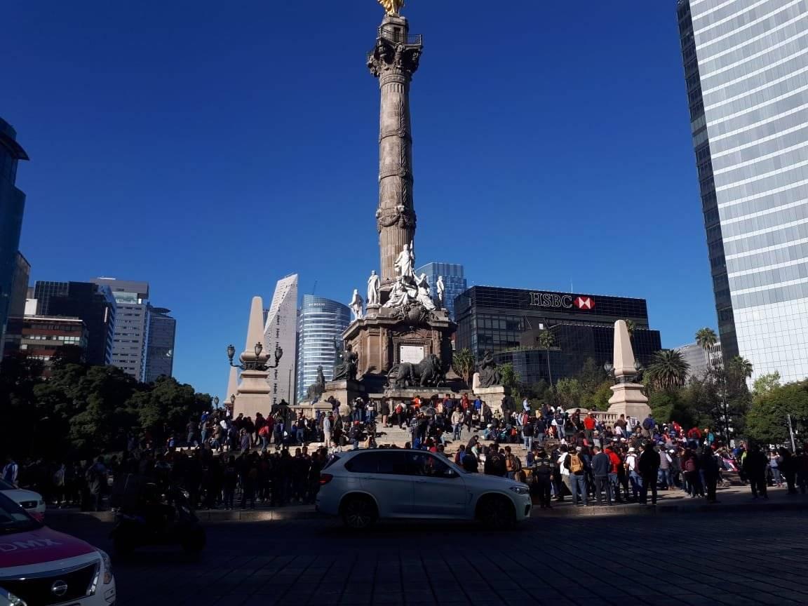 Manifestación en el Ángel de la Independencia Foto: Aabye Vargas
