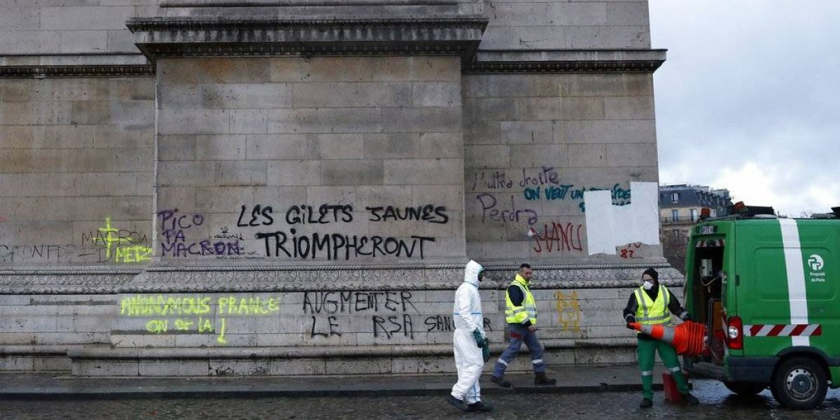 """Nueva jornada de violencia en París: el """"chilenismo"""" contra Macron que acaparó la atención del mundo"""