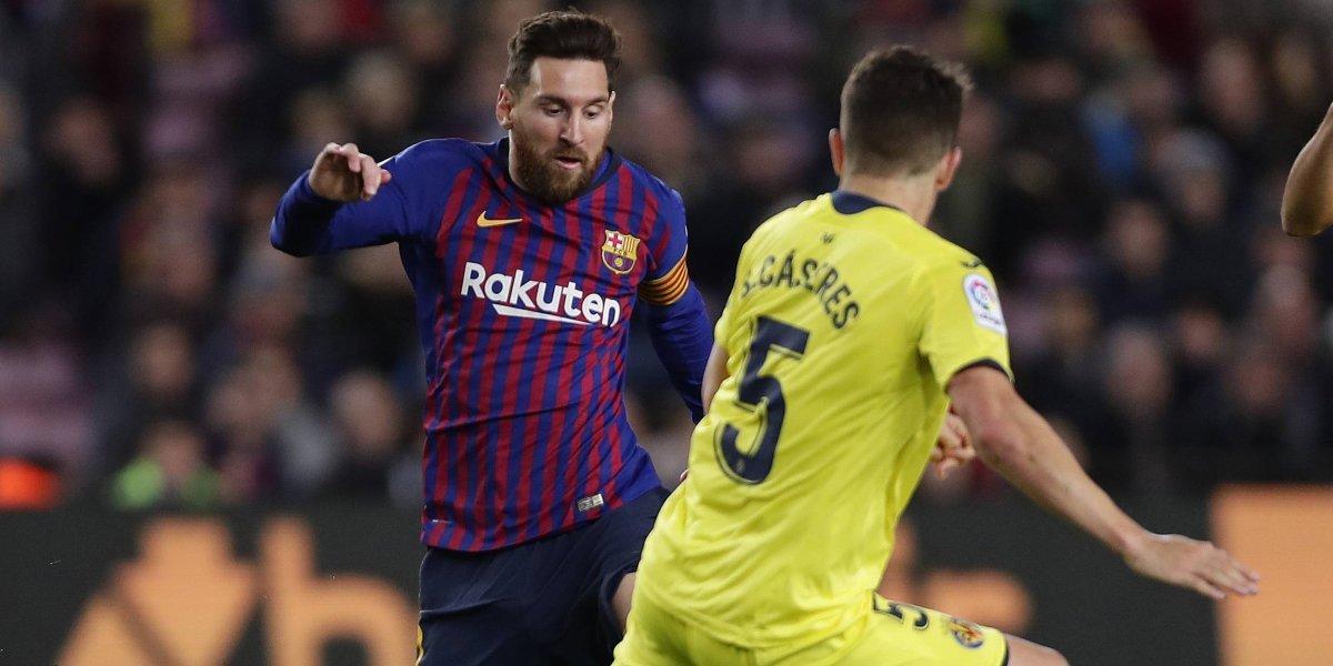 Messi guía a Barcelona a un triunfo sobre el Villareal