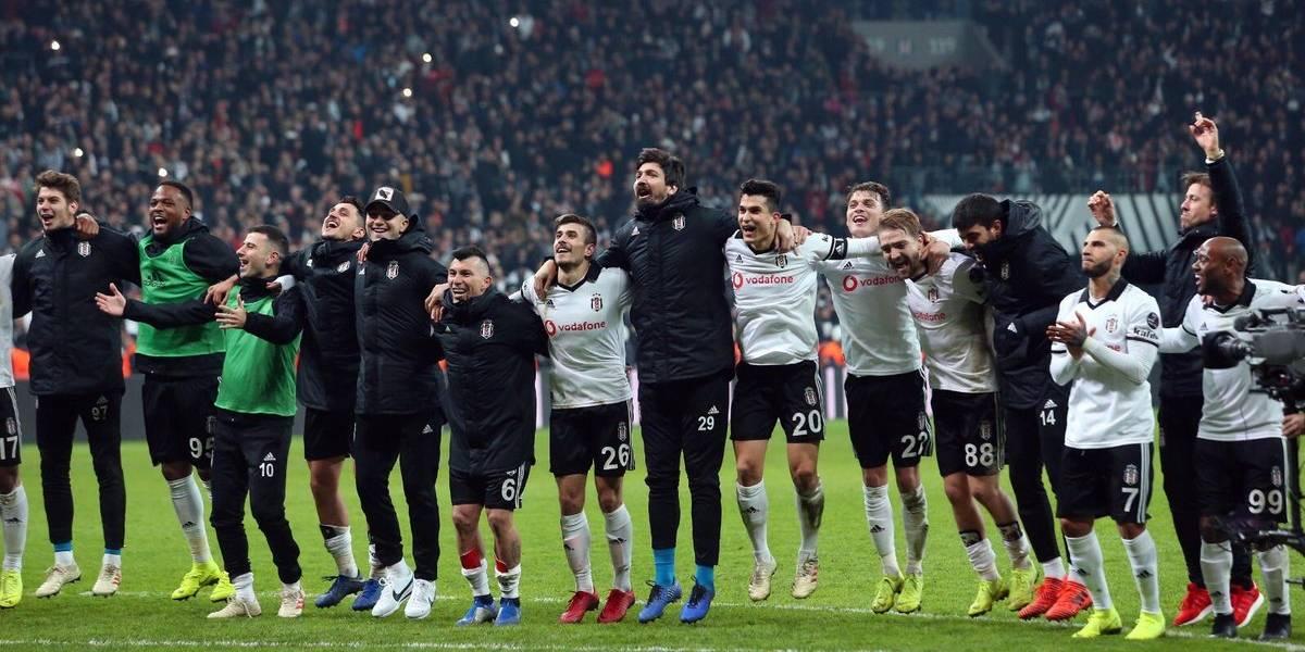 Gary Medel y su Besiktas se ilusionan en Turquía tras ganar el clásico a Galatasaray
