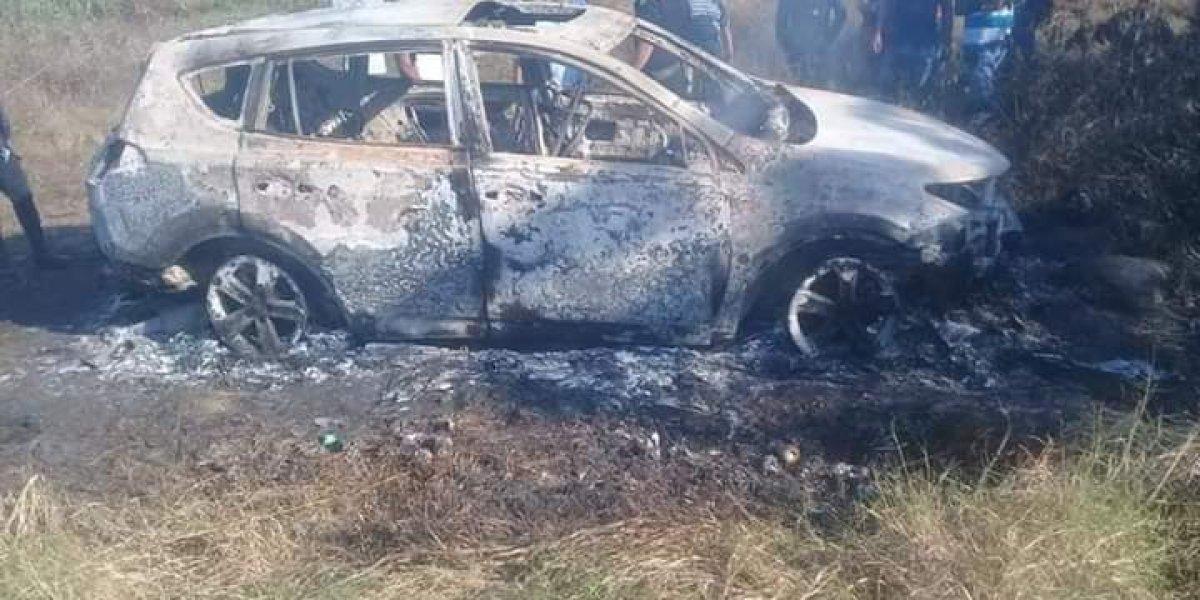 Localizan tres cuerpos carbonizados en vehículo en Malacatán