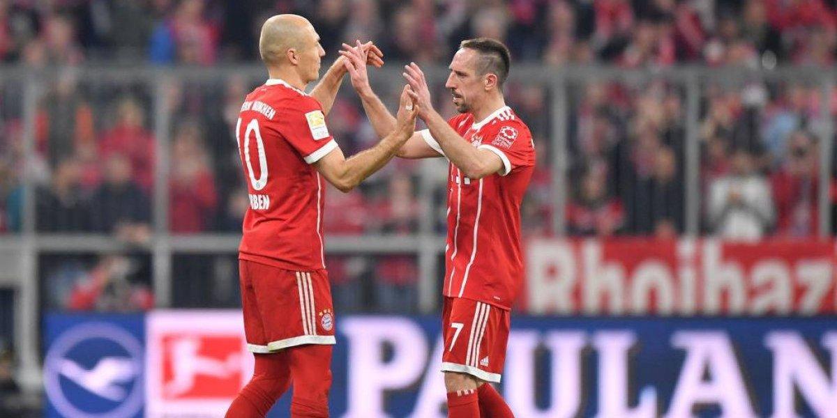 Fin de una era: Arjen Robben y Franck Ribery se irán del Bayern Munich al final de temporada