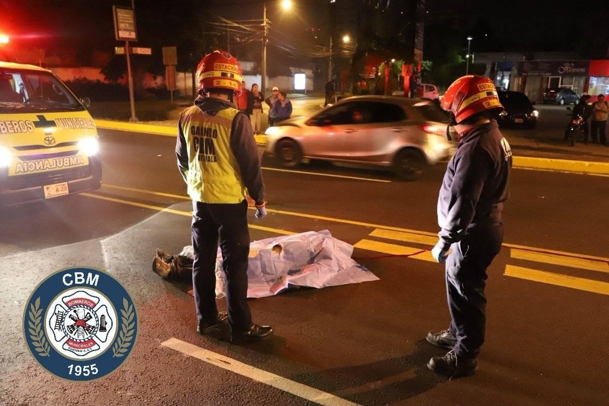 El motorista murió por politraumatismo. Foto: Bomberos Municipales
