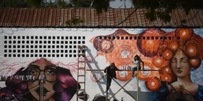 Graffittis en colonia Lavarreda, zona 18