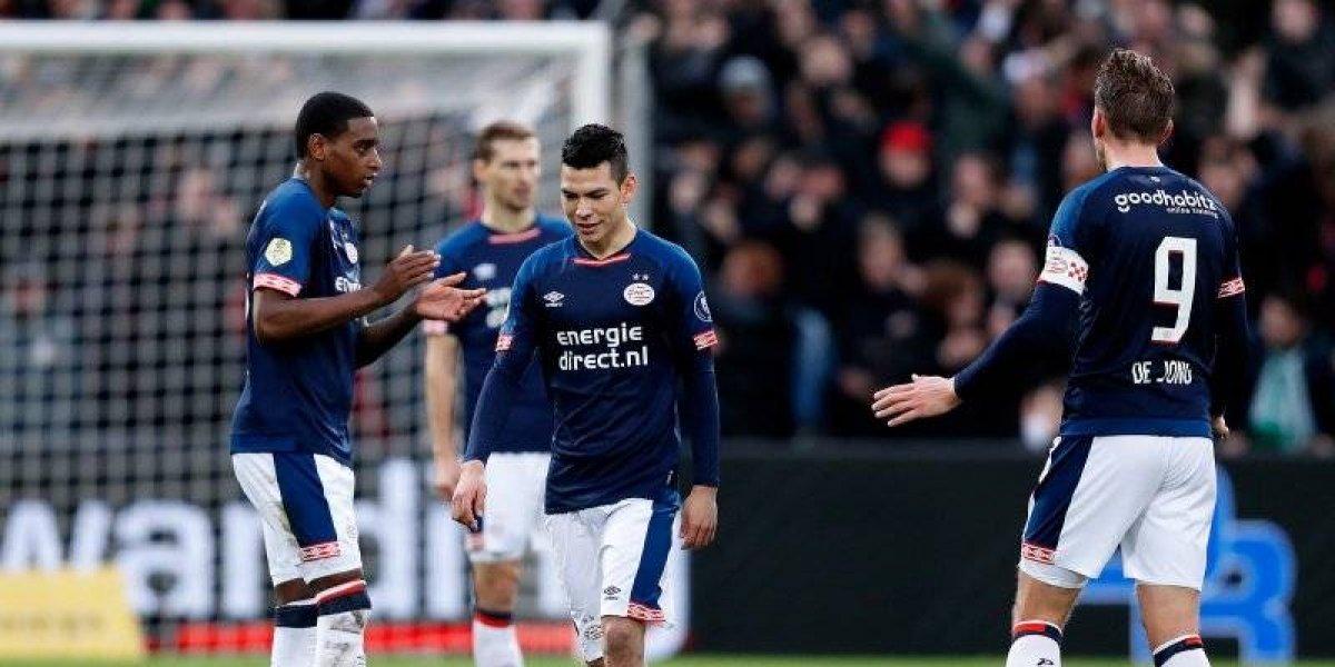 Con 'Chucky' y 'Guti' en la cancha, PSV pierde el invicto ante el Feyenoord