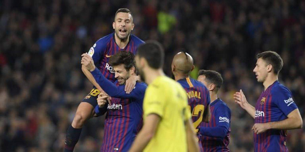 Sin meter el acelerador, Barcelona vence al Villarreal de Layún