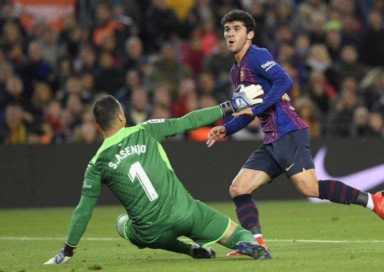 Gol de Carles Aleñá contra el Villarreal
