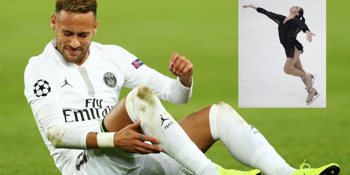 Patinadora asegura que ha caído menos veces que Neymar