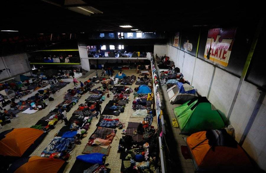 Emigrantes en Tijuana
