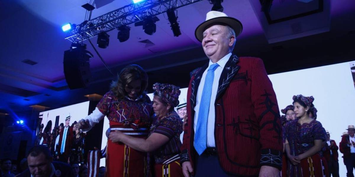 Zury Ríos se vistió con un traje tradicional Ixil en Asamblea Nacional de Valor