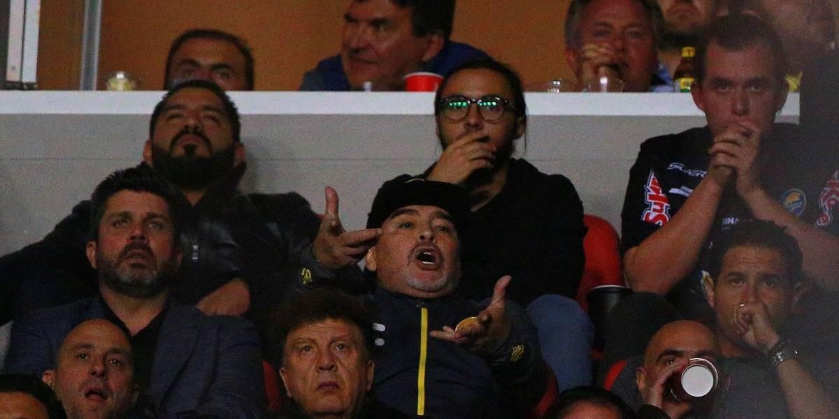 Maradona protagonizó otro bochorno tras perder la final del ascenso mexicano con Dorados