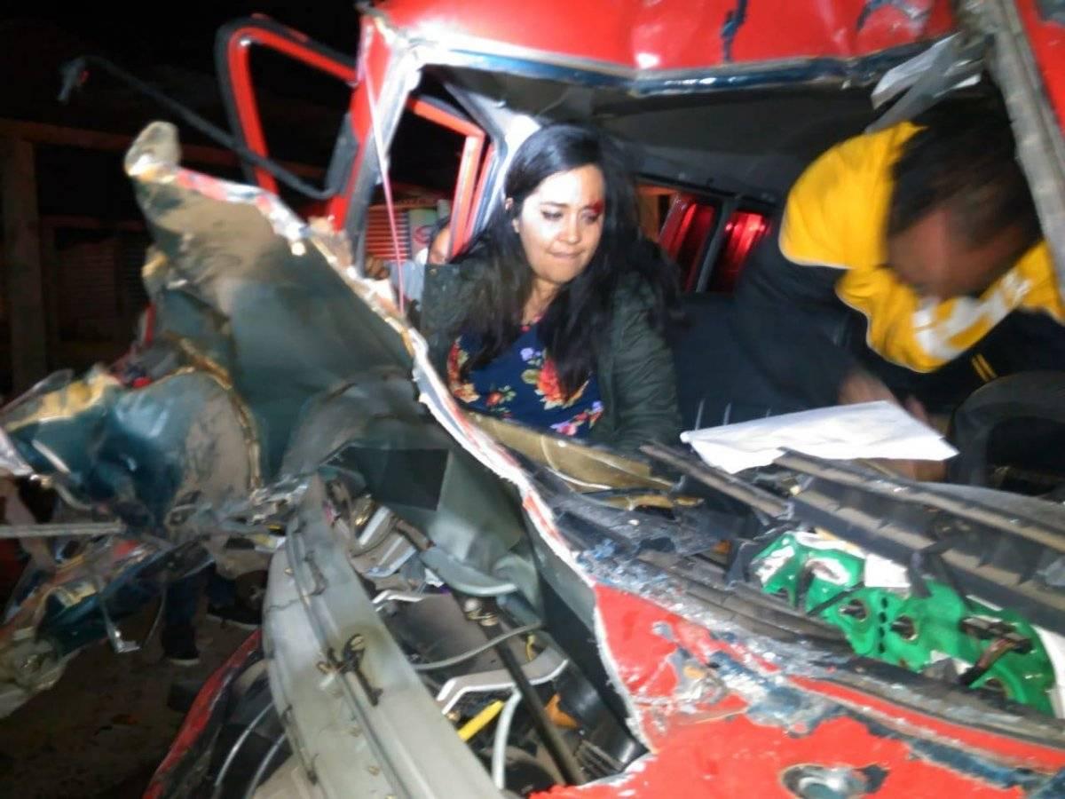 Maestros de Quetzaltenango se accidentan en Quiché
