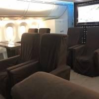 Fotos del interior del lujoso avión presidencial TP01 José María Morelos y Pavón