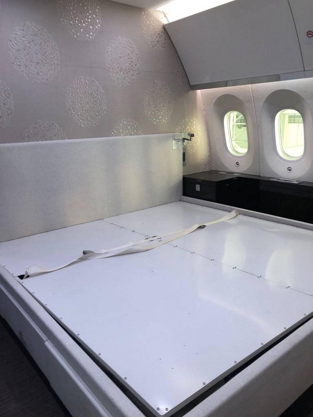 Fotos del interior del lujoso avión presidencial TP01 José María Morelos y Pavón Foto: Notimex