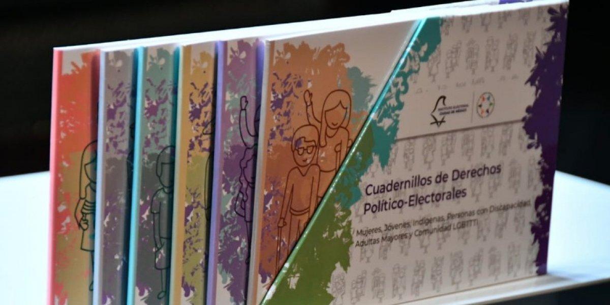 IECM presenta cuadernillos de derechos electorales en Braille