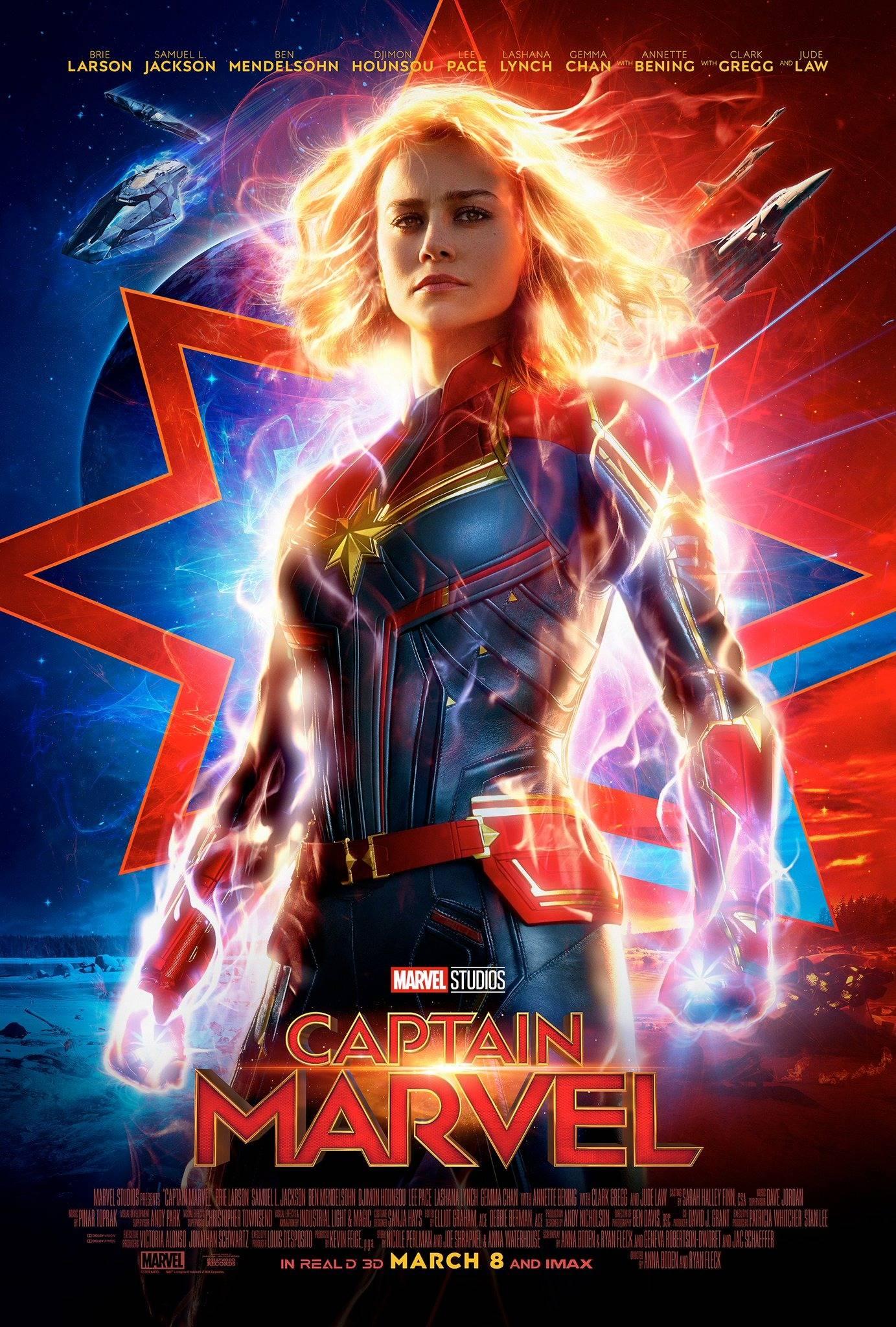 Capitana Marvel muestra su último y espectacular cartel