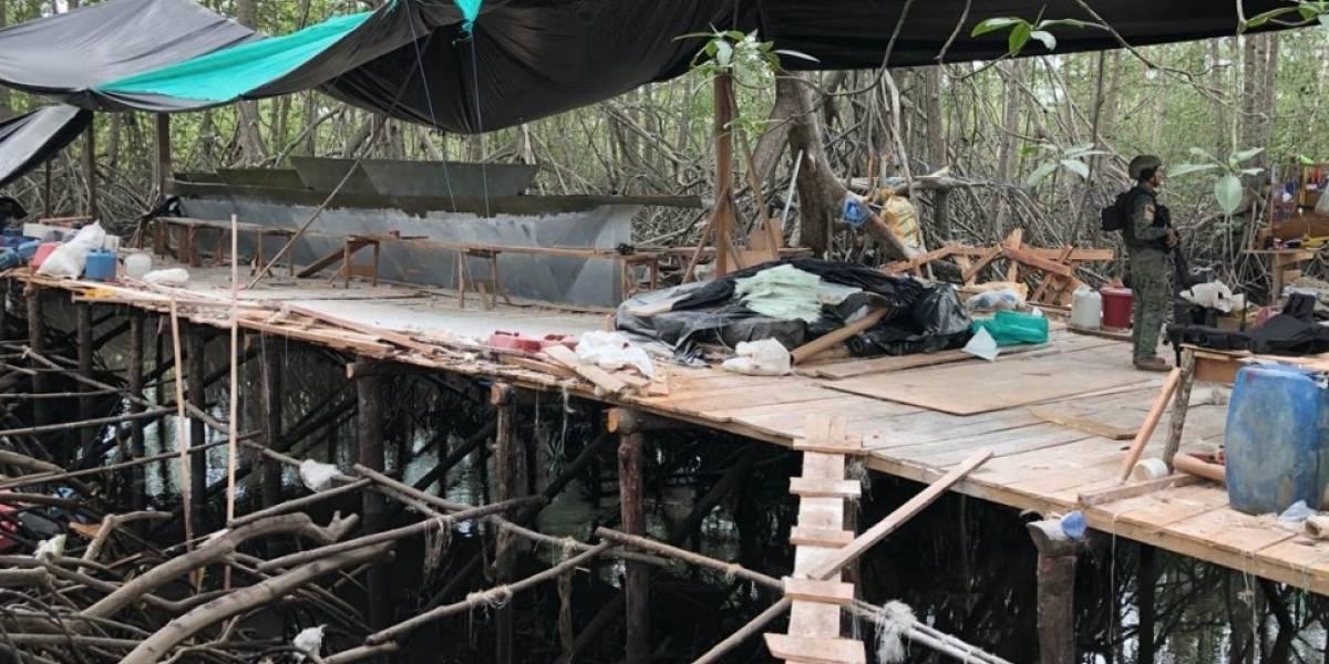 Las Fuerzas Armadas encuentran un semisumergible en construcción en Esmeraldas