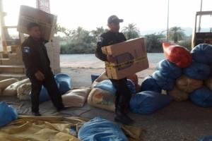 Contrabando de cigarrillos oculto en maíz en El Progreso
