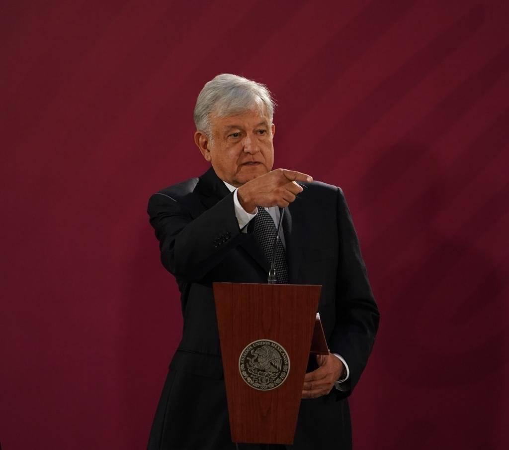 Primera conferencia de AMLO desde Palacio Nacional Foto: Cortesía