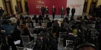 Primera conferencia del presidente AMLO desde Palacio Nacional