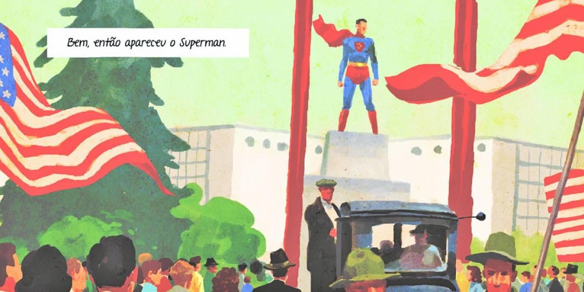 Graphic novel conta trajetória do criador do Superman